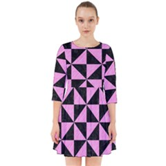 Triangle1 Black Marble & Pink Colored Pencil Smock Dress by trendistuff