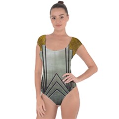 Art Nouveau Gold Silver Short Sleeve Leotard  by 8fugoso