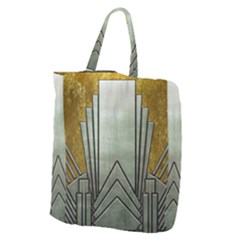 Art Nouveau Gold Silver Giant Grocery Zipper Tote