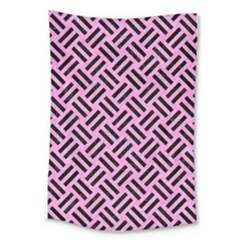 Woven2 Black Marble & Pink Colored Pencil Large Tapestry by trendistuff