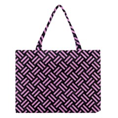 Woven2 Black Marble & Pink Colored Pencil (r) Medium Tote Bag by trendistuff