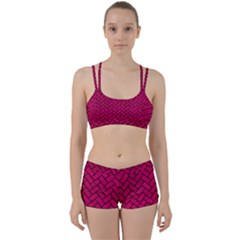 Brick2 Black Marble & Pink Leather Women s Sports Set by trendistuff