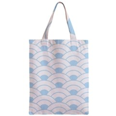 Blue,white,shell,pattern Zipper Classic Tote Bag by 8fugoso