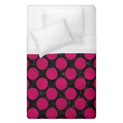 Circles2 Black Marble & Pink Leather (r) Duvet Cover (single Size) by trendistuff