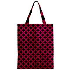 Circles3 Black Marble & Pink Leather (r) Zipper Classic Tote Bag by trendistuff