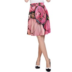 Beautiful Peonies A Line Skirt by 8fugoso