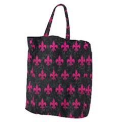 Royal1 Black Marble & Pink Leather Giant Grocery Zipper Tote by trendistuff
