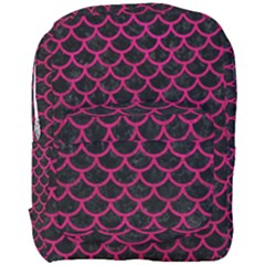 Scales1 Black Marble & Pink Leather (r) Full Print Backpack by trendistuff