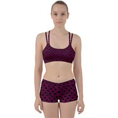 Scales2 Black Marble & Pink Leather (r) Women s Sports Set by trendistuff