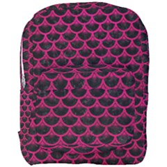 Scales3 Black Marble & Pink Leather (r) Full Print Backpack by trendistuff