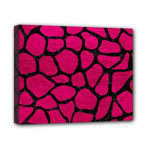 Skin1 Black Marble & Pink Leather (r) Canvas 10  X 8  by trendistuff