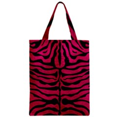 Skin2 Black Marble & Pink Leather Zipper Classic Tote Bag by trendistuff