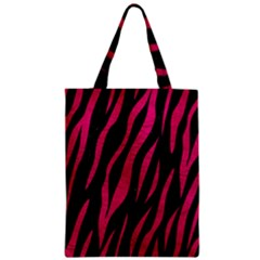Skin3 Black Marble & Pink Leather (r) Zipper Classic Tote Bag by trendistuff