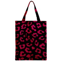 Skin5 Black Marble & Pink Leather Zipper Classic Tote Bag by trendistuff