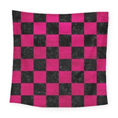 Square1 Black Marble & Pink Leather Square Tapestry (large) by trendistuff