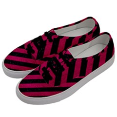 Stripes3 Black Marble & Pink Leather (r) Men s Classic Low Top Sneakers by trendistuff