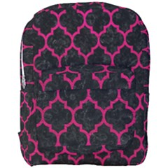 Tile1 Black Marble & Pink Leather (r) Full Print Backpack