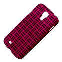 WOVEN1 BLACK MARBLE & PINK LEATHER Samsung Galaxy S4 I9500/I9505 Hardshell Case View4