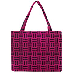 Woven1 Black Marble & Pink Leather Mini Tote Bag by trendistuff