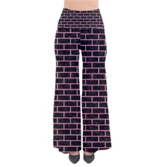 Brick1 Black Marble & Pink Watercolor (r) Pants by trendistuff