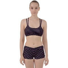 Brick1 Black Marble & Pink Watercolor (r) Women s Sports Set by trendistuff