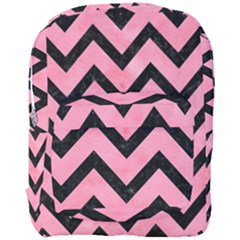 Chevron9 Black Marble & Pink Watercolor Full Print Backpack by trendistuff
