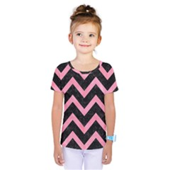 Chevron9 Black Marble & Pink Watercolor (r) Kids  One Piece Tee by trendistuff