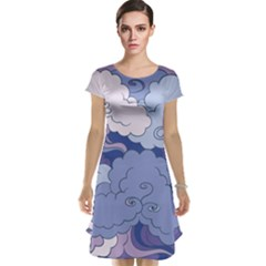 Abstract Nature 3 Cap Sleeve Nightdress