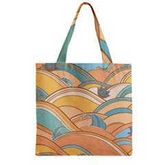 Abstract Nature 5 Zipper Grocery Tote Bag