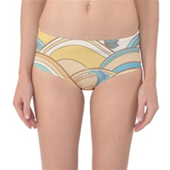 Abstract Nature 5 Mid Waist Bikini Bottoms