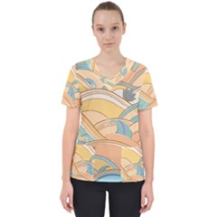 Abstract Nature 5 Scrub Top