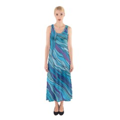 Abstract Nature 6 Sleeveless Maxi Dress