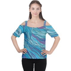 Abstract Nature 6 Cutout Shoulder Tee
