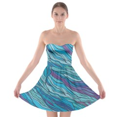 Abstract Nature 6 Strapless Bra Top Dress