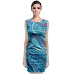 Abstract Nature 6 Classic Sleeveless Midi Dress