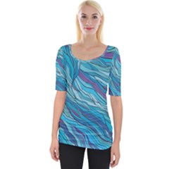Abstract Nature 6 Wide Neckline Tee
