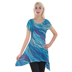 Abstract Nature 6 Short Sleeve Side Drop Tunic