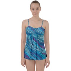 Abstract Nature 6 Babydoll Tankini Set