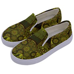 Abstract Nature 11 Kids  Canvas Slip Ons by tarastyle