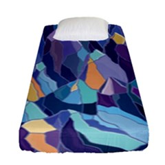 Abstract Nature 15 Fitted Sheet (single Size) by tarastyle