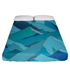 Abstract Nature 17 Fitted Sheet (queen Size) by tarastyle