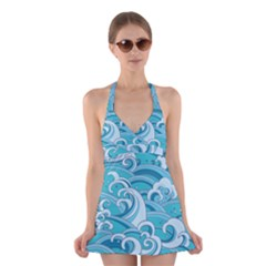 Abstract Nature 20 Halter Dress Swimsuit  by tarastyle