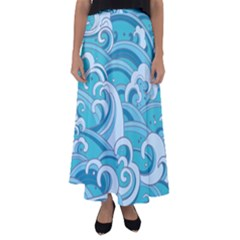 Abstract Nature 20 Flared Maxi Skirt