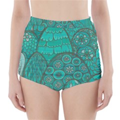 Abstract Nature 21 High Waisted Bikini Bottoms by tarastyle