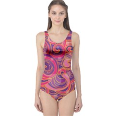 Abstract Nature 22 One Piece Swimsuit by tarastyle
