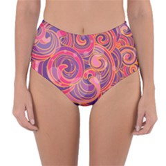 Abstract Nature 22 Reversible High Waist Bikini Bottoms by tarastyle