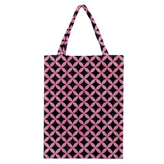Circles3 Black Marble & Pink Watercolor (r) Classic Tote Bag by trendistuff