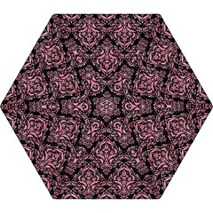 Damask1 Black Marble & Pink Watercolor (r) Mini Folding Umbrellas by trendistuff