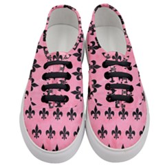 Royal1 Black Marble & Pink Watercolor (r) Women s Classic Low Top Sneakers