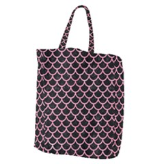 Scales1 Black Marble & Pink Watercolor (r) Giant Grocery Zipper Tote by trendistuff